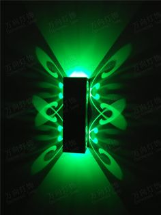 (31.50$)  Know more  - LED Wall Lamp 6W Indoor Modern Aluminum Butterfly Sconce KTV / Bar / Corridor Decorate Wall Light Up and Down Side AC85-265V