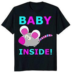 Funny Baby Shower T-Shirt Baby inside Shirt Mom Dad Gift Rat