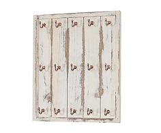 Colgador de cocina de madera y metal Mónaco - blanco