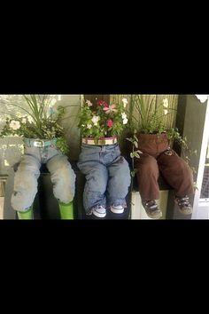 Jean flower pot
