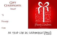 Gift Card Design Template Best Of Free Editable Christmas Gift Certificate Template Free Gift Voucher Template, Christmas Gift Certificate Template, Free Certificate Templates, Templates Printable Free, Christmas Gift Vouchers, Christmas Gifts, Christmas Morning, Free Christmas Printables, Christmas Templates