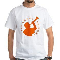 Angel Moroni Orange Men's T-Shirt Zazzle.com/AngelMoroni cafepress.com/AngelMoroni