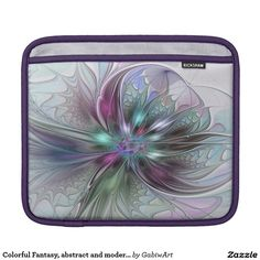 Colorful Fantasy, abstract and modern Fractal Art iPad Sleeve