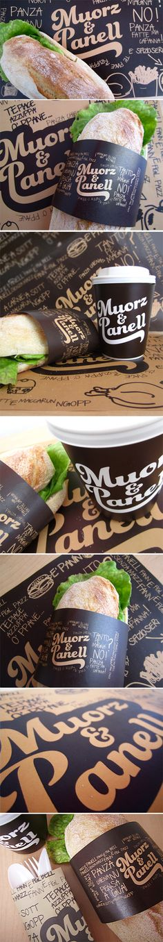 ILAS - CORSI DI GRAFICA PUBBLICITARIA Muorz & Panell sandwiches for lunch #packaging PD