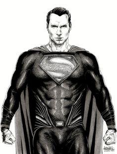 «Batman v Superman: Dawn Of Justice» - Henry Cavill as Superman >>> Art by Garnabiel