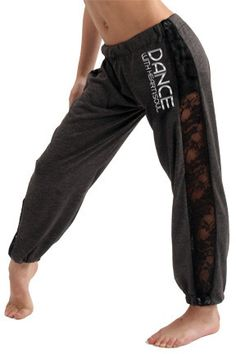 Dance With Heart and Soul Lace Sweatpants - Heart and Soul Fashion <3
