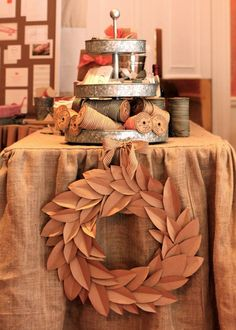 love megan's kraft paper magnolia wreath!  toastandlaurel.com