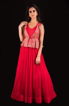 Rose Pink Aankh Lehenga and designer blouse ~ Banjara by Mrunalini Rao. Indian Designer Outfits, Indian Outfits, Designer Dresses, Designer Wear, Western Outfits, Brocade Blouse Designs, Long Gown Dress, Long Frock, Dress Skirt