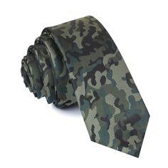 G.I. H-Bomb - Camouflage Skinny Tie - Adult Size #necktie #skinnytie #camo #camouflage Gents Wear, Surviving In The Wild, Slim Tie, Biker Leather, Blue Ties, Skinny Ties, Tie Knots, Paisley Pattern, Adulting