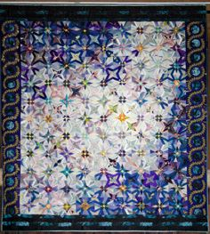 "A Japanese silk quilt by Matsuko Morishita. ""Stars in Heaven""."