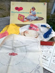 Vintage PRISCILLA Embroidery Set, Orig. Box. For Girls of All Ages. TOYKRAFT