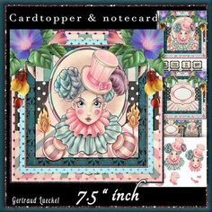 Cardtopper Steampunk Harlequin 542 on Craftsuprint - View Now!