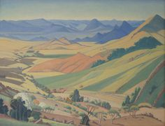 sagerabelaissoul: Barberton & Kaapschehoop by Pierneef South Africa Art, African Paintings, South African Artists, Paintings I Love, Art For Art Sake, Faeries, Van Gogh, Landscape Paintings, Illustration Art