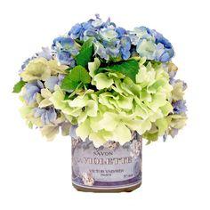 Creative Displays, Inc. Spring Additions Assorted Hydrangea Decoupage Pot
