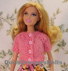 Fashion Doll Short Sleeved Cardigan