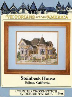 Cross Stitch Chart - Debbie Patrick - Steinbech House Salinas, California | eBay