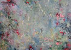 This Time Our Time oil on canvas abstract landscape adriennesilva  botanical fantasy