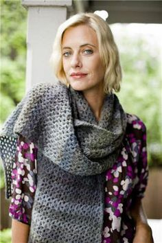Maple Shade Wrap - Free Crochet Pattern With Website Registration - (lionbrand)