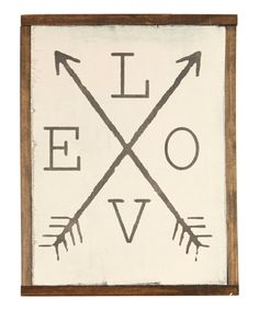 Love this linen & lace 'Love' With Arrows Wall Sign by linen & lace on #zulily! #zulilyfinds