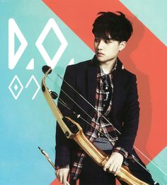 #DO. #Kyungsoo ♡ #EXO // Calender 2014 has the look like he wants to shoot the guy looking at him on the side lol