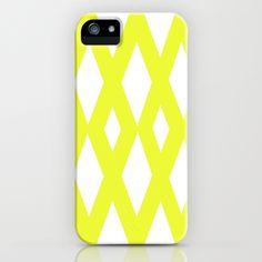 Yellow Diamonds iPhone Case
