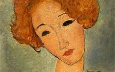 Amedeo Modigliani (Italian, 1884-1920) - Woman with red hair (detail), 1917 - National Gallery of Art, Washingon