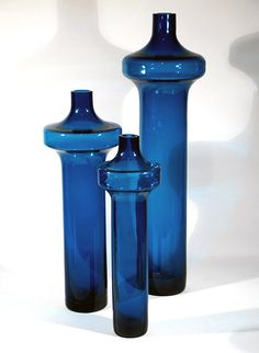 Katedraali vases by Helena Tynell, Riihimäen lasi Glass Vessel, Glass Ceramic, Nordic Design, Scandinavian Design, Glass Bottles, Perfume Bottles, Glas Art, Glass House, Stained Glass Windows