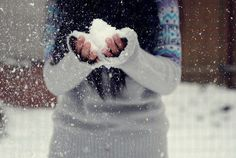 fluffy snow.