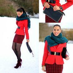 Winter Red (by Tamara Chloe) http://lookbook.nu/look/4506523-Winter-Red