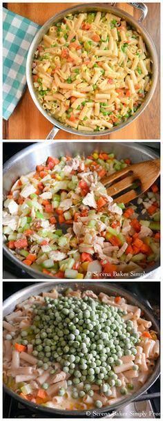 Creamy Cheesy Tuna Noodle Skillet with a Gluten Free Option. An easy quick and inexpensive meal to make.