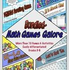 $ Math Games Galore Bundle is a collection of my favorite math computation and numeracy games. These year-round games are differentiated and accessible to students in 5th-8th grade. They work well in centers, as a solitaire activity when students are finished, as team challenges or homework (when you want students to have some meaningful practice).