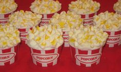 "Popcorn cupcakes...use marshmallows for the ""popcorn"""