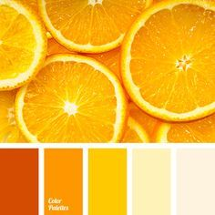 Bright Orange Shades Of Color Dark Interior
