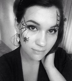 Halloween spiderweb face paint