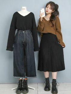 Kpop Fashion Outfits, Ulzzang Fashion, Harajuku Fashion, Korean Outfits, Korean Street Fashion, Korea Fashion, Asian Fashion, Matching Outfits Best Friend, Fashion Design Sketches