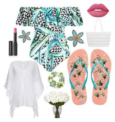"""""""Beach Wear"""" by kotnourka ❤ liked on Polyvore featuring Mara Hoffman, Havaianas, Threshold, Ghost, BUCO, Nearly Natural, Le Métier de Beauté, Lime Crime, Frontgate and Stratton Home Décor"""