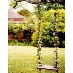 swing set flowers, #polyvore