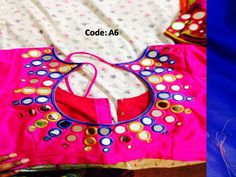 mirror work on blouse