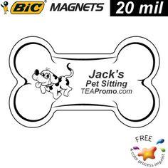 Pet Business Idea! #pets #advertising #logo #promotionalproducts Promotional Dog Bone Refrigerator Magnet Medium Size 20mil | Promotional BIC Magnets | Promotional Dog Bone Magnets