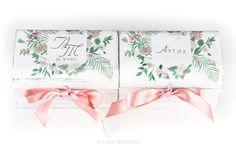 #Cajas #anillos y #arras #boda Ana y Miguel Ángel, #portaanillos y portaarras a juego, de #madera, #personalizadas, pintadas a mano.  www.lolagranado.com