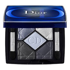 Dior - 5-Colour Eyeshadow - Bleu de Paris 254 - silver blue shimmer/ silver/ pale blue sheen/ charcoal grey shimmer/ matte midnight blue #sephora