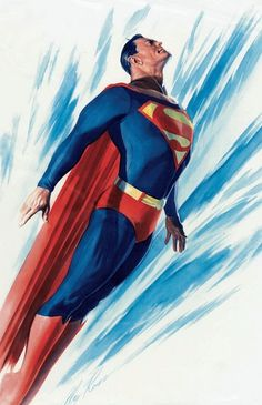 Superman by Alex Ross Love His Art Style! His one of My Favorite Artists.  And Superman is also One of my Idols!