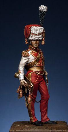 Tromba maggiore del rgt. lancieri Rossi della guardia Imperiale francese