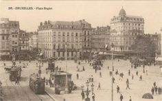 CPA BRUXELLES - Place Rogier Belgique FRANCE Ancienne Carte Postale AK Postkarten postcard Post Card