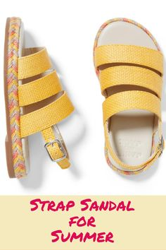 Strap sandal for warmer days. Beautifully designed sandal, perfect for summer.  A strap sandal to complete her summer style.  #girlsandal #girlaccessories #summeraccessories #afflink