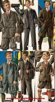 1925 Boys Clothing...times have changed