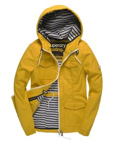 Superdry Boat Jacket     Love the combination of intense yellow with nautical stripes.