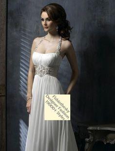 2011 Style Empire Spaghetti Straps Court Trains Sleeveless Chiffon Wedding Dress For Brides