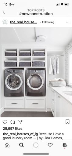 10 Small Laundry Room Ideas to Feel Spacious Inside - ARCHLUX.NET 10 small laundry room ideas to feel good in Modern Laundry Rooms, Laundry Room Layouts, Laundry Room Remodel, Laundry Room Cabinets, Basement Laundry, Laundry Room Organization, Laundry Closet, Diy Cabinets, Laundry Room Pedestal
