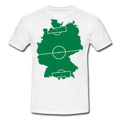 Ein Fußballfeld in Form von Deutschland.